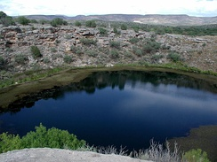 Montezuma Well in the Verde Valley of Arizona contains at least five endemic species found exclusively in the sinkhole.