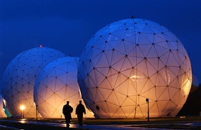 Geodesic radomes at the Misawa Security Operations Center, Misawa, Japan