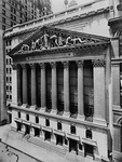 The Broad Street facade of the New York Stock Exchange