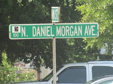 North Daniel Morgan Avenue sign in Spartanburg