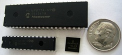 PIC microcontrollers in DIP and QFN packages