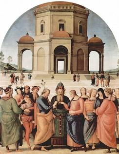 Marriage of the Virgin (1500-1504) by Perugino