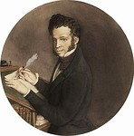 Portrait of A. Pushkin by Konstantin Somov (1899)