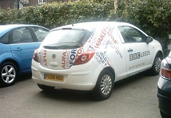 A BBC Radio Leeds vehicle as seen at Headingley during a one-day cricket match in 2009.