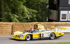 The Renault Alpine A442, 1978 Le Mans 24 Hours winner, at the 2014 Goodwood Festival of Speed