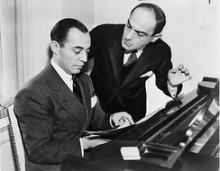 Richard Rodgers (seated) with Lorenz Hart in 1936.