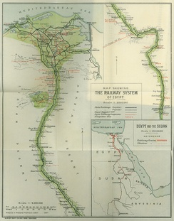 The Railway System of Egypt, 1908