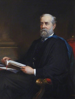 Portrait of Thomas Spencer Baynes, editor of the 9th edition. Painted in 1888, it now hangs in the Senate Room of the University of St Andrews in Scotland.