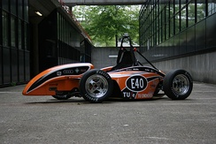 The full electric Formula Student/Formula SAE car of the Eindhoven University of Technology