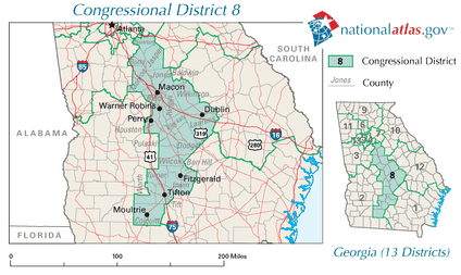Georgia's 8th congressional district in 2010
