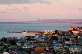 The County of Peebles and Cavenga are used as a breakwater for the harbour at Punta Arenas.