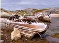 Wrecked fishing boats in Finnmark, North Norway