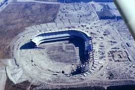 Anaheim Stadium under construction, May 1965