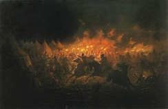 The Night Attack of Târgovişte, which resulted in the victory of Vlad (Dracula) the Impaler.