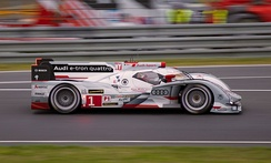 The Audi R18, a Le Mans Prototype car, during an endurance race