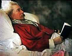 Twain photographed in 1908 via the Autochrome Lumiere process