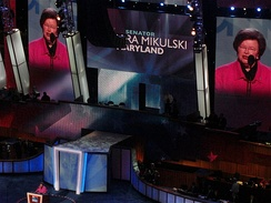 Senator Barbara Mikulski speaks during the second day of the Convention