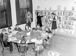 A children's library in Montreal, Quebec, Canada in 1943