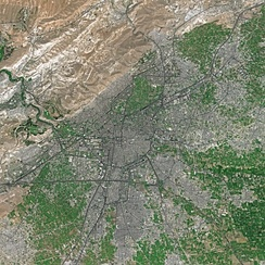 Damascus in spring seen from Spot satellite