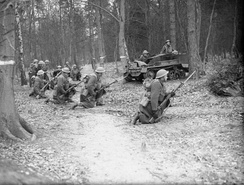 Troops of the  West Nova Scotia Regiment training near Aldershot, England (December 1939)