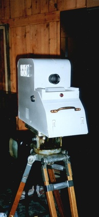 Replica of an Emitron camera used to make the earliest 405-line programmes broadcast on the channel