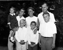 Bush (front right) with family, early 1960s