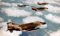 F-4Ds of the 525th Tactical fighter squadron - 1972.
