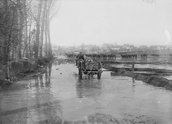 Flooding in Tincourt-Boucly, April 1917. (IWM Q 1985)