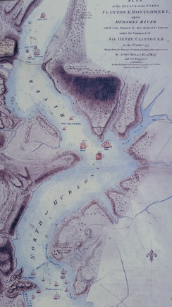 Fort Independence on the Hudson, depicted on Sir Henry Clinton's battle map of October 6, 1777
