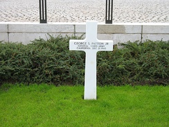 Patton's grave in Luxembourg City