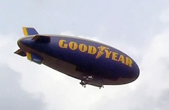 One of the Goodyear Tire and Rubber Company's blimp fleet, being replaced by Zeppelin NT semirigids