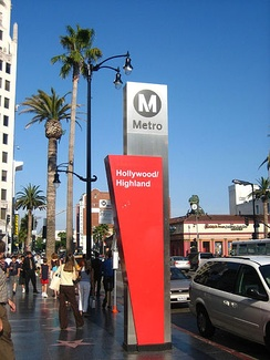 Hollywood/Highland Station is located in the heart of Hollywood's tourist attractions