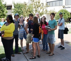 OSU-OKC students gather for free food, giveaways and fun during the tri-annual pre-semester Howdy Week event.