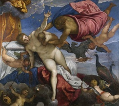 The Origin of the Milky Way by Jacopo Tintoretto, 1575