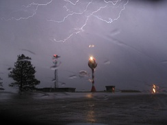 Lightning near the airport, April 2007