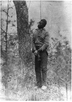 The body of George Meadows, lynched near the Pratt Mines in Alabama's Jefferson County on January 15, 1889.