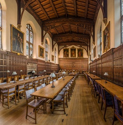 Magdalen College dining hall, where students can eat meals, also hosts regular formal banquets.