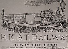 1881 advertisement for the K-T line