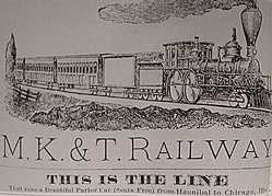 "The Missouri-Kansas-Texas Railroad --the ""Katy""--was the first railroad to enter Texas from the north"