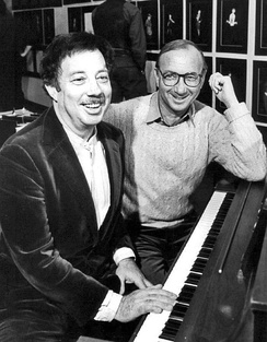With Cy Coleman at piano rehearsing, 1982