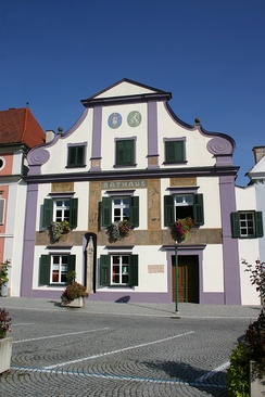 Town hall of Pöllau, Styria, population ca. 2000
