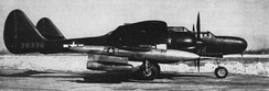 A P-61C with a PTV-N-2U Gorgon IV missile