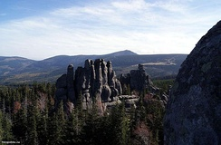 Tor landform made up of granite in the Sudetes.