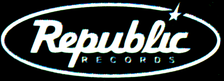 Old black-and-white Republic Records logo