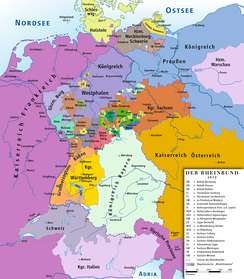 Member states of the Confederation of the Rhine, 1812