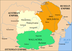 Most of Bessarabia was for centuries part of the principality of Moldavia (1800 map).