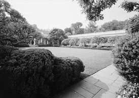 The White House Rose Garden after Mellon's landscaping