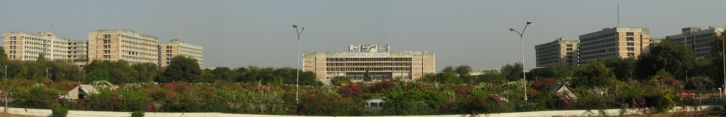 Gandhinagar, the capital of Gujarat State. The picture shown above is of the Legislative Assembly and seat of Gujarat government.