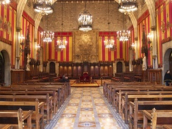 The Saló de Cent, in the City Hall of Barcelona.