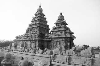 The Shore Temple at Mamallapuram built by Narasimhavarman II